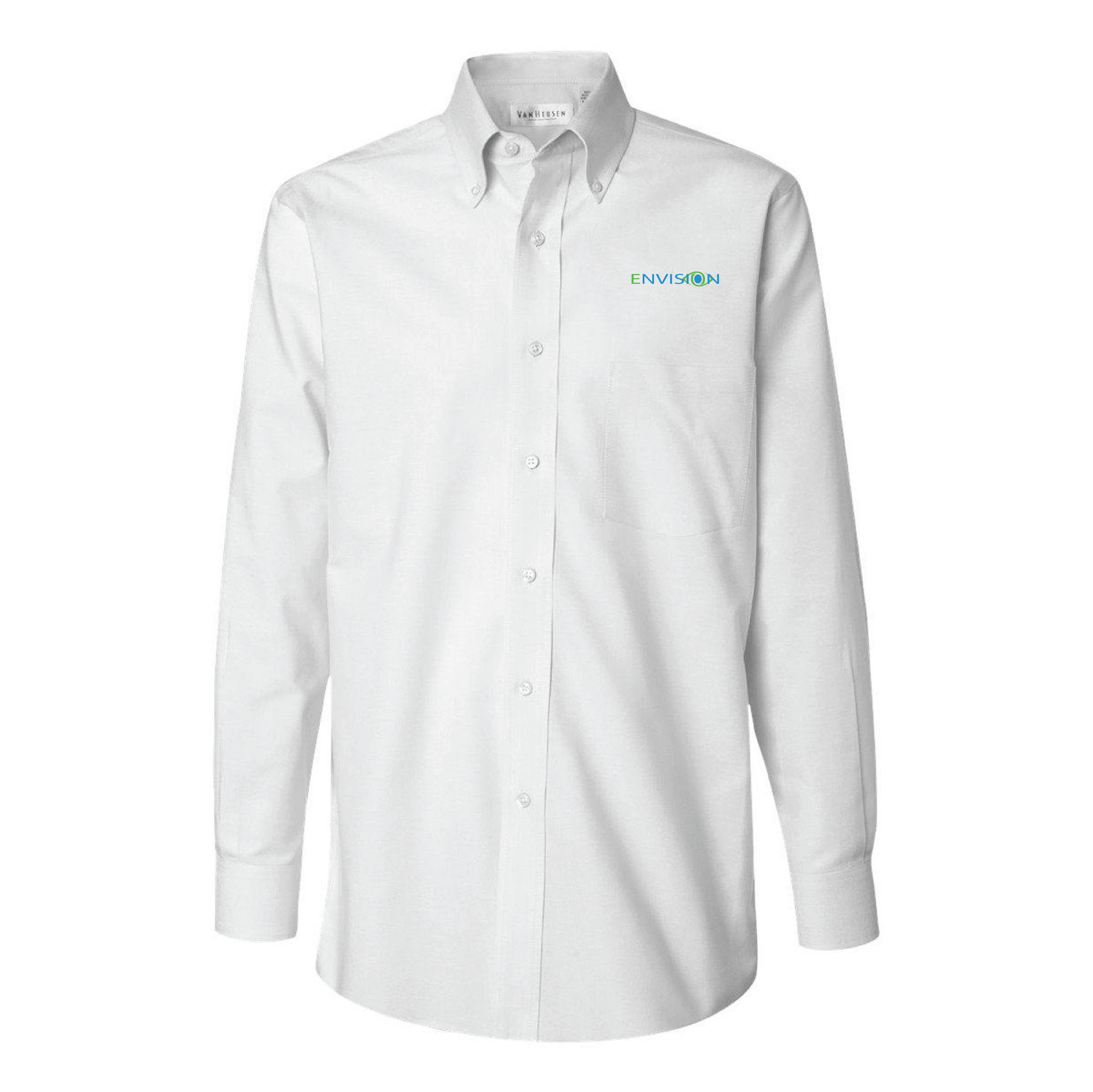 1ae2f7150ba Envision Mens Button Down: Van Heusen Men's Long Sleeve Oxford Shirt-Alpha  Sized (4 Colors)